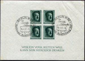 German Reich   Sc.# B103    1st Day Cancel   Mi.# Block 8