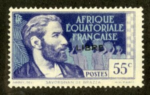 FRENCH EQUATORIAL AFRICA 100 MH SCV $16.00 BIN $7.00 PERSON
