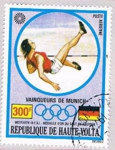 Burkina Faso C121 Used Gold medal High jump 1972 (BP47512)