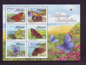 Alderney Sc 318a 2008 Butterflies stamp sheet mint NH