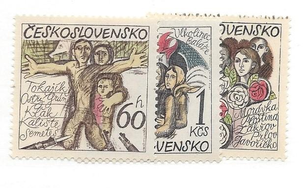 Czechoslovakia, 1992-94, Destruction of 14 Villages by Nazis, MNH
