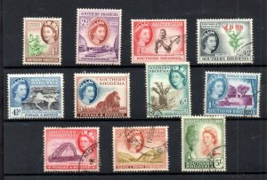 Southern Rhodesia QEII 1953 fine used short set to 5/- SG79-89 WS18713