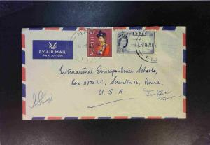 Fiji 1965 Airmail Cover to USA - Z1846