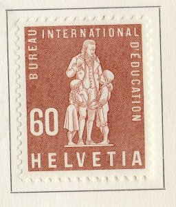Switzerland Helvetia 1958 Early Issue Fine Mint Hinged 60c. NW-170869