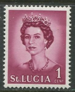 St. Lucia - Scott 182 - QEII - Definitive -1964 - MNH -Single 1c Stamp