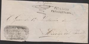 G) 1827 MEXICO, FRANCO DE PAPASQUIARO, WITH OFFICIAL NEGATIV