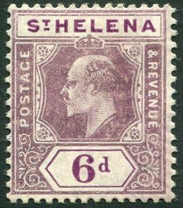 ST HELENA-1908 6d Dull & Deep Purple Sg 67 MOUNTED MINT V33831