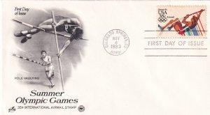 1983, Summer Olympic Games-Pole Vaulting, Art Craft/PCS, FDC (E11346)