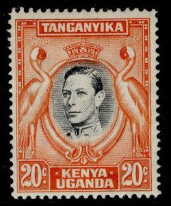 KENYA UGANDA TANGANYIKA GVI SG139ba, 20c deep black & dp orange M MINT. Cat £28.