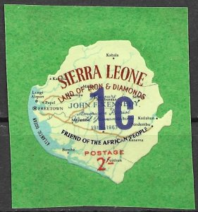 Sierra Leone 1965 Surcharged issue (Scott 269) Unlisted But Mentioned Scott MNH