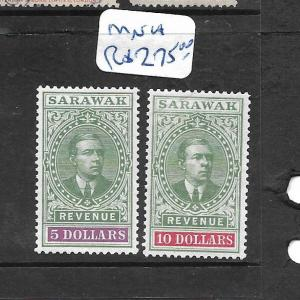 SARAWAK  (P0306B)  YOUNG BROOKE REVENUE $5.00 & $10.00 INCREDIBLE MNH!!!