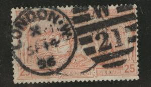 Greece Scott 122 used 1896 First International Olympic stamp