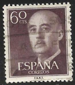 Spain 1954 Scott# 822 Used