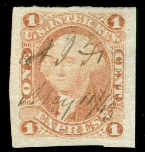 MOMEN: US STAMPS #R1a IMPERF REVENUE USED VF/XF LOT #71220