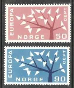 NORWAY Scott 414-415 MNH** EUROPA 1962 set CV$2.25