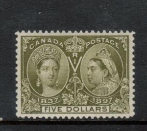 Canada #65 Extra Fine Never Hinged Gem Light Vertical Bend **With Certificate**