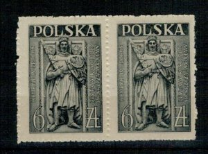 Poland 1946 MNH Stamps Scott 394 Pair Monuments Tomb of Duke of Silesia