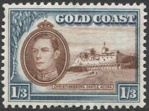 GOLD COAST 1938 Sc 124  1sh 3d MLH VF, Christiansborg Castle