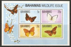 BAHAMAS SGMS657 1983 BUTTERFLIES MNH