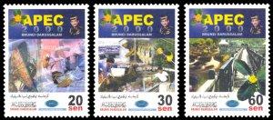 Brunei 2000 Scott #559-561 Mint Never Hinged