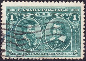 CANADA 19281c Blue-Green Quebec TercentenarySG109FU