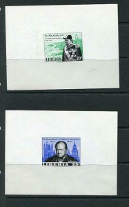 Liberia 2 Deluxe Imperf Proof Sir Winston Churchill WWII Leader MNH 6207