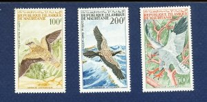 MAURITANIA   -Scott C29-C31 - FVF MNH - BIRDS - 1964