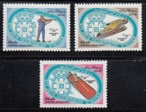 Afganistan, Sc  1057-1059, MNH, 1984, Winter Olympics, (LL00953)