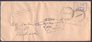 NEW ZEALAND 1952 cover to Te Aroha : Gone No Address : Not Known RD 2 etc