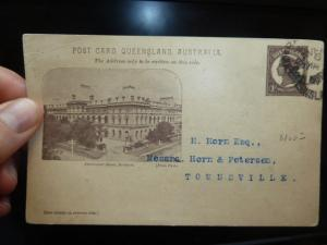 Queensland Pictoral PPC 1d Parliament House Used (5bes)