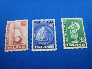 ICELAND  -  SCOTT #213-215  -  MNH    (wwi3)