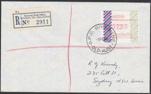 AUSTRALIA 1985 (5 Feb)  $2.80 Frama on Registered cover ex  Brisbane........E184