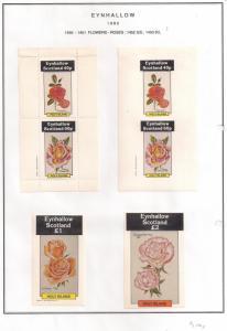 SCOTLAND - EYNHALLOW - 1982 - Roses #1 - Perf,Imp 2v, Souv, D/L Sheets- MLH