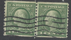 United States Scott # 490 Pair Used