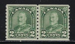 Canada 161 Never Hinged 1929 Coil Pair