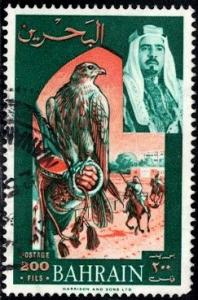 Falcon & Horse Race, Bahrain stamp SC#150 used