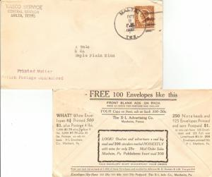 United States Texas Malta 1932 4c-bar  1896-1955  Obverse corner card Vasco S...