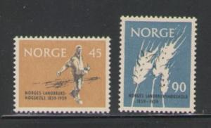 Norway Sc 378-9 1959 Ag College 100 yrs stamps NH