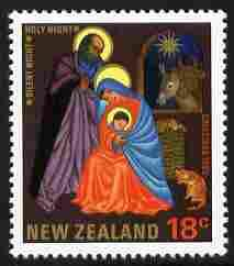 New Zealand 1985 Christmas 18c with the error of spelling...