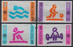Hong Kong 1994 The 15th Commonwealth Games Stamps Set of 4 Fine Used