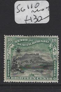 NORTH BORNEO  (PP1307B)  18C  MOUNTAIN SG 110      MOG
