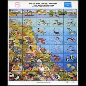 PALAU 1986 - Scott# 103 Sheet-Marine Life NH