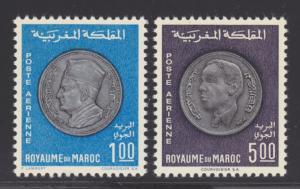 Morocco Sc C16-C17 MNH. 1969 Medallions, complete set, fresh, bright, VF