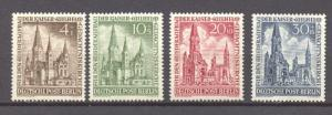 Berlin, 1953, Emperor Wilhelm Cathedral complete set of 4, MNH, no faults
