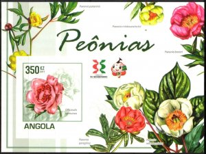 Angola 2011 Flowers Peonies S/S Imperf. MNH