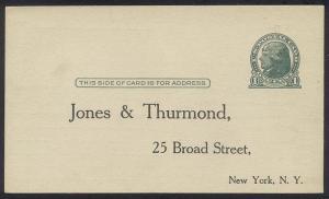 U.S. #UX27C SCARCE Unused - 1914 1c Green on Rough Card