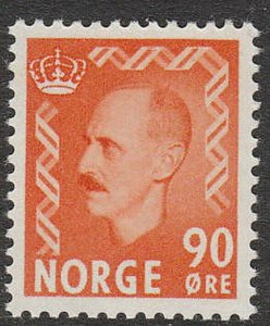 Stamp Norway Sc 352 1955 King Haakon VII War Occupation Resistance WWII MNH