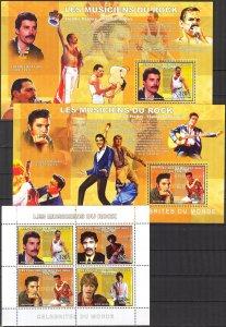 Congo 2006 Music Rock Famous Musicians sheet + 4 S/S MNH 2 scans