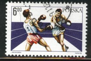 Poland Scott 2582 Used CTO Boxing stamp 1983