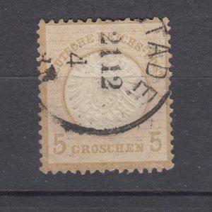 J28670, 1872 germany used #20 eagle large shield $27.50 scv
